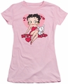 Betty Boop juniors sheer t-shirt Sweetheart pink