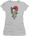 Betty Boop juniors sheer t-shirt Tattoo silver