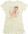 Betty Boop juniors sheer t-shirt The Windy City cream