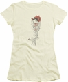 Betty Boop juniors sheer t-shirt Thorns cream