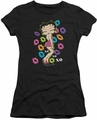 Betty Boop juniors sheer t-shirt Tripple XO black