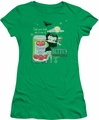 Betty Boop juniors sheer t-shirt Vampire Tomato Juice kelly green