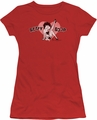 Betty Boop juniors sheer t-shirt Vintage Cutie Pup red