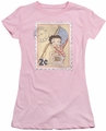 Betty Boop juniors sheer t-shirt Vintage Stamp pink