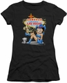 Betty Boop juniors sheer t-shirt Welcome Las Vegas black