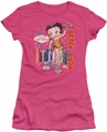 Betty Boop juniors sheer t-shirt Wet Your Whistle hotpink