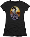 Betty Boop juniors sheer t-shirt Wild Biker black