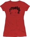 Betty Boop juniors sheer t-shirt Word Hair red