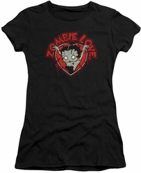 Betty Boop juniors t-shirt Heart You Forever black