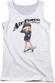 Betty Boop juniors tank top Air Force Boop white