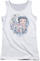Betty Boop juniors tank top Aloha white