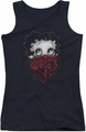 Betty Boop juniors tank top Bandana & Roses black