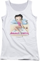 Betty Boop juniors tank top Beach Betty white