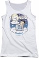 Betty Boop juniors tank top Betty Bye white