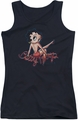 Betty Boop juniors tank top Betty's Back black