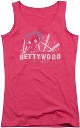 Betty Boop juniors tank top Bettywood hot pink