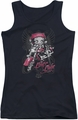 Betty Boop juniors tank top Biker Babe black