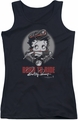 Betty Boop juniors tank top Born To Ride black