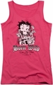 Betty Boop juniors tank top Born Wild hot pink