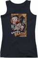 Betty Boop juniors tank top Boyfriend The Beast black