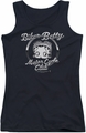 Betty Boop juniors tank top Chromed Logo black