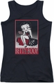 Betty Boop juniors tank top Classic black