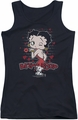 Betty Boop juniors tank top Classic Kiss black