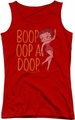 Betty Boop juniors tank top Classic Oop red