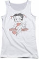 Betty Boop juniors tank top Classic With Pup white