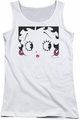 Betty Boop juniors tank top Close Up white
