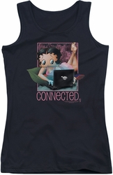 Betty Boop juniors tank top Connected black