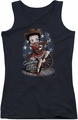 Betty Boop juniors tank top Country Star black