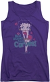 Betty Boop juniors tank top Curves purple