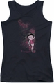 Betty Boop juniors tank top Cutie black