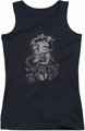 Betty Boop juniors tank top Fashion Roses black