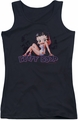 Betty Boop juniors tank top Glowing black