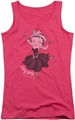 Betty Boop juniors tank top Gypsy Betty hot pink