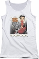 Betty Boop juniors tank top Hollywood white