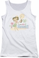 Betty Boop juniors tank top Hot In Hawaii white