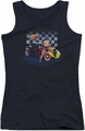 Betty Boop juniors tank top Hot Rod Boop black