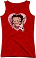 Betty Boop juniors tank top I Love Betty red