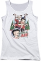 Betty Boop juniors tank top I Want It All white