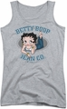 Betty Boop juniors tank top Jean Co athletic heather