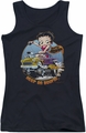 Betty Boop juniors tank top Keep On Boopin black