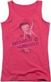 Betty Boop juniors tank top Kissable Huggable hot pink