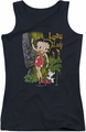 Betty Boop juniors tank top Luau Lady black