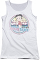 Betty Boop juniors tank top Miami Beach white