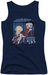 Betty Boop juniors tank top Moonlight navy