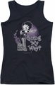 Betty Boop juniors tank top My Way black