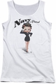 Betty Boop juniors tank top Navy Boop white